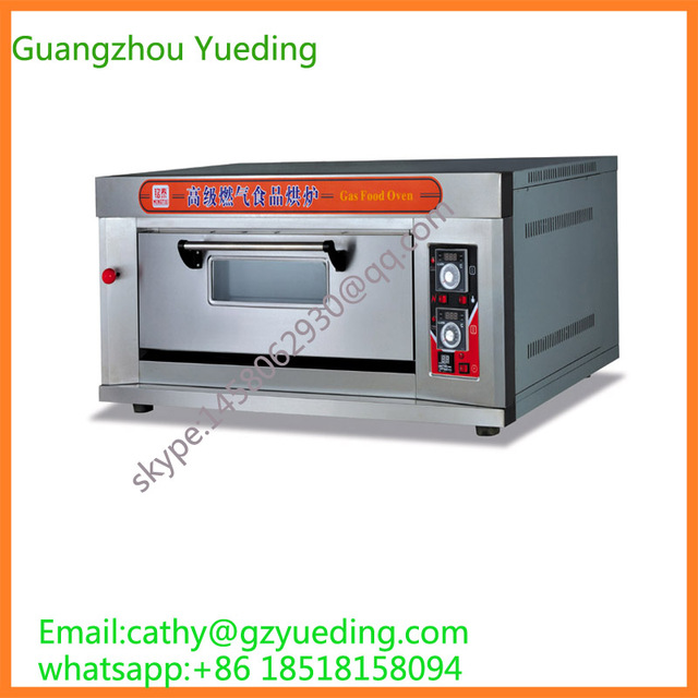single layer 1 tray industrial commercial kitchen gas pizza oven convection oven for sale with rotary