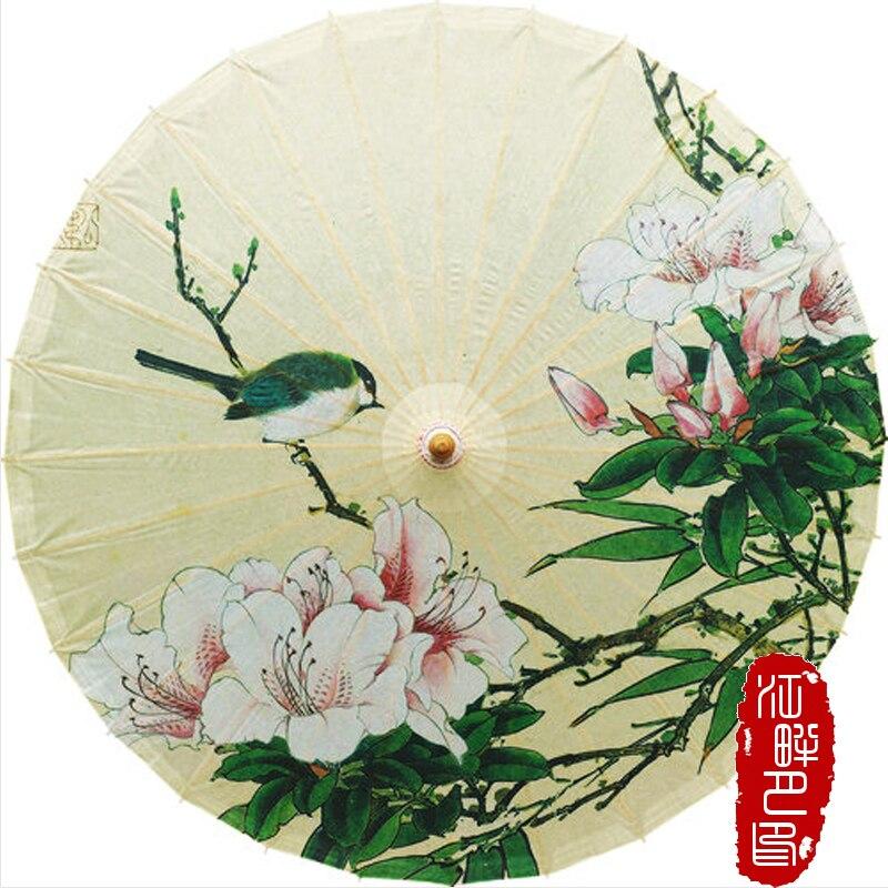 Птица на цветок масла Бумага зонтик животных с природой Harmony Бумага зонтик цветок пиона цвести Бумага зонтик Косплэй опора