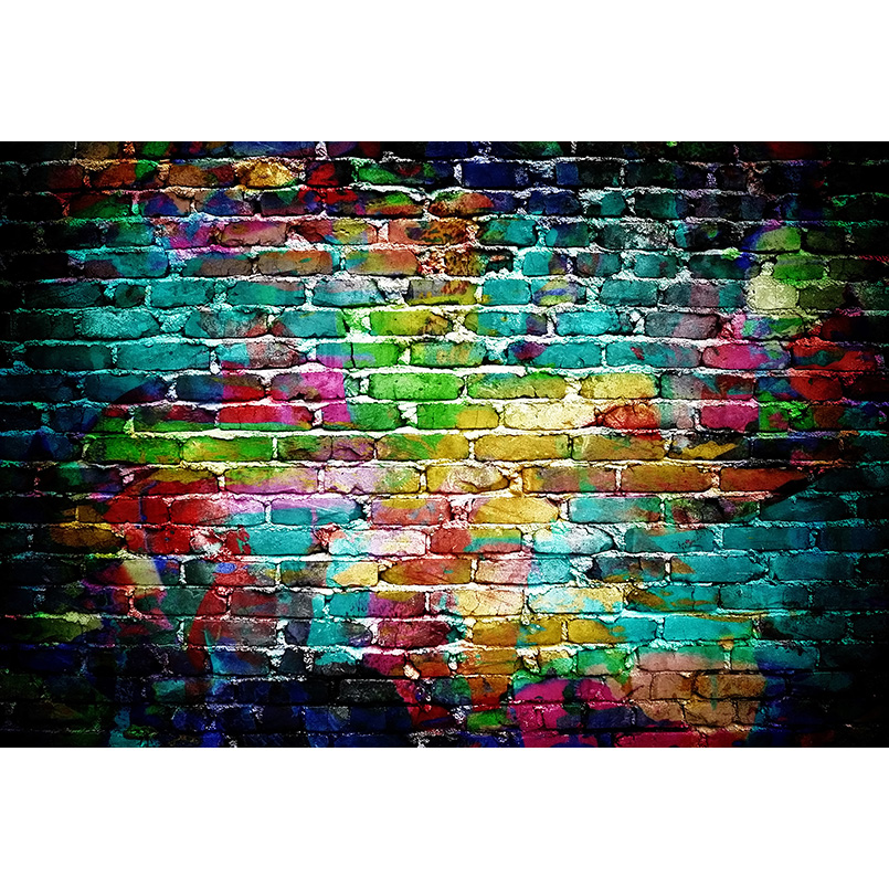 Seamless Photography background Computer Printed colorful brick wall Photo backdrop for photo studio F-3255 857 seamless nail wedding photo frame wall paintings hook the real invisible