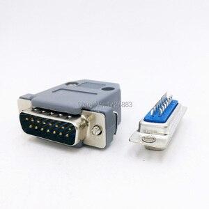 DB15 разъем 2 ряда отверстие/штырь Женский штекер Порт гнездо адаптер D Sub DP15 + оболочка