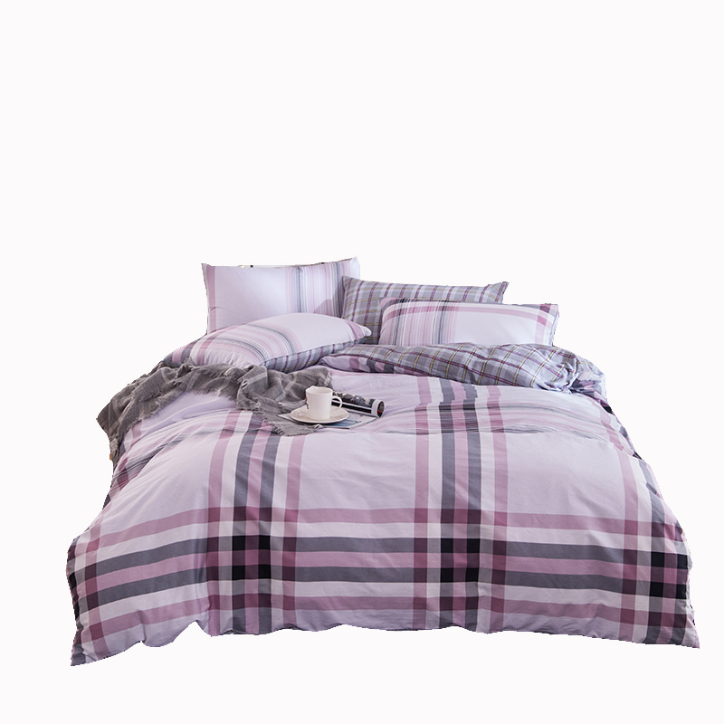 pink stripe bed sheet pillowcases soft duvet cover girls bedding set cotton 100 queen double - Striped Sheets
