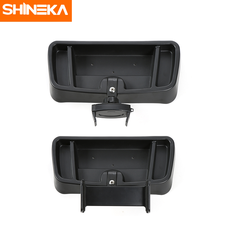 все цены на SHINEKA ABS Auto IPad Mobile Phone Holder Stand Bracket Storage Box Stickers For Jeep Wrangler TJ 1997-2006