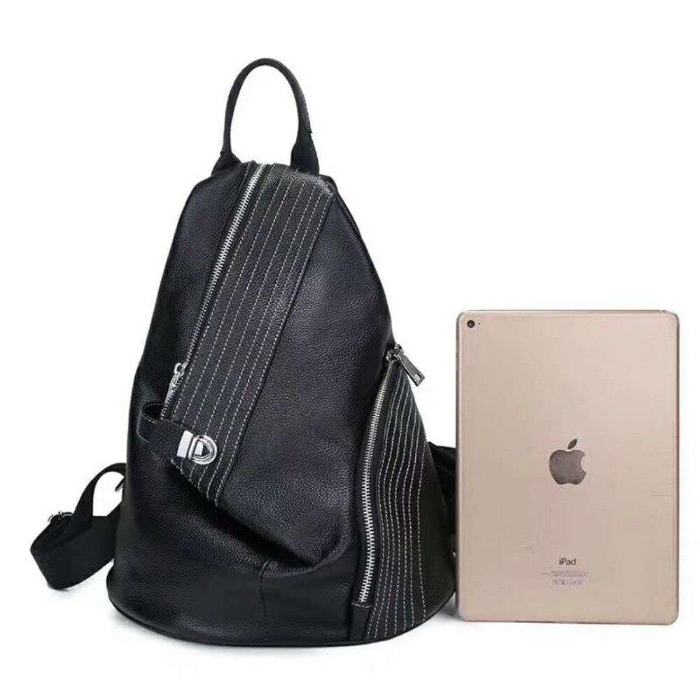 Nouveau sac à dos de personnalité en cuir pour femme sac à dos de couple de mode coréenne sac d'étudiant en cuir de grande capacité