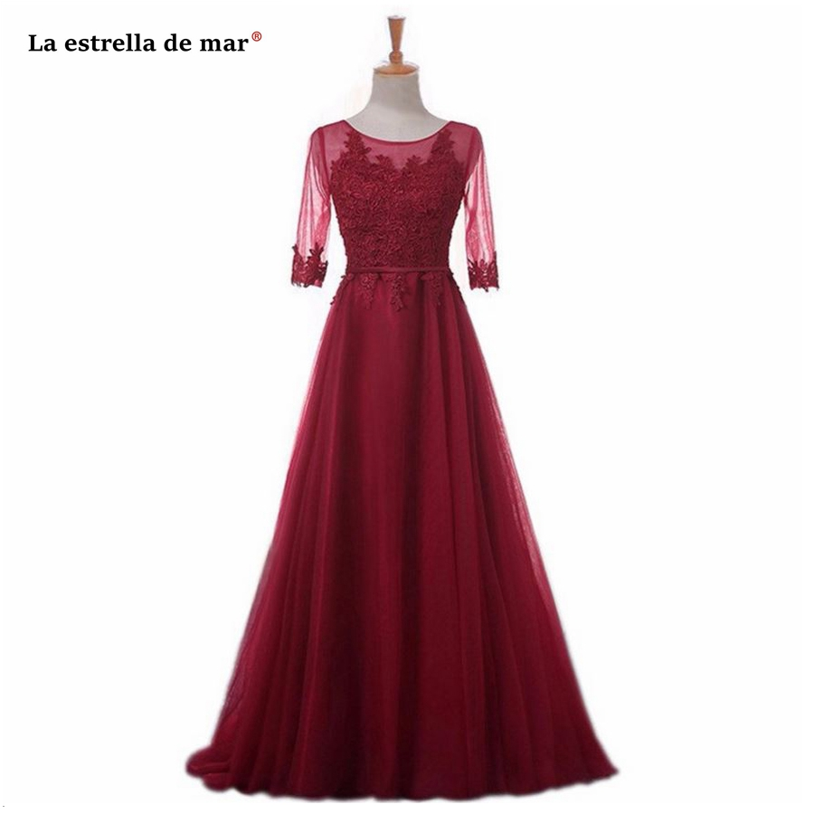La estrella de mar robe demoiselle d'honneurSALE blush pink burgundy royal blue silver mint green   bridesmaid     dress   long cheap