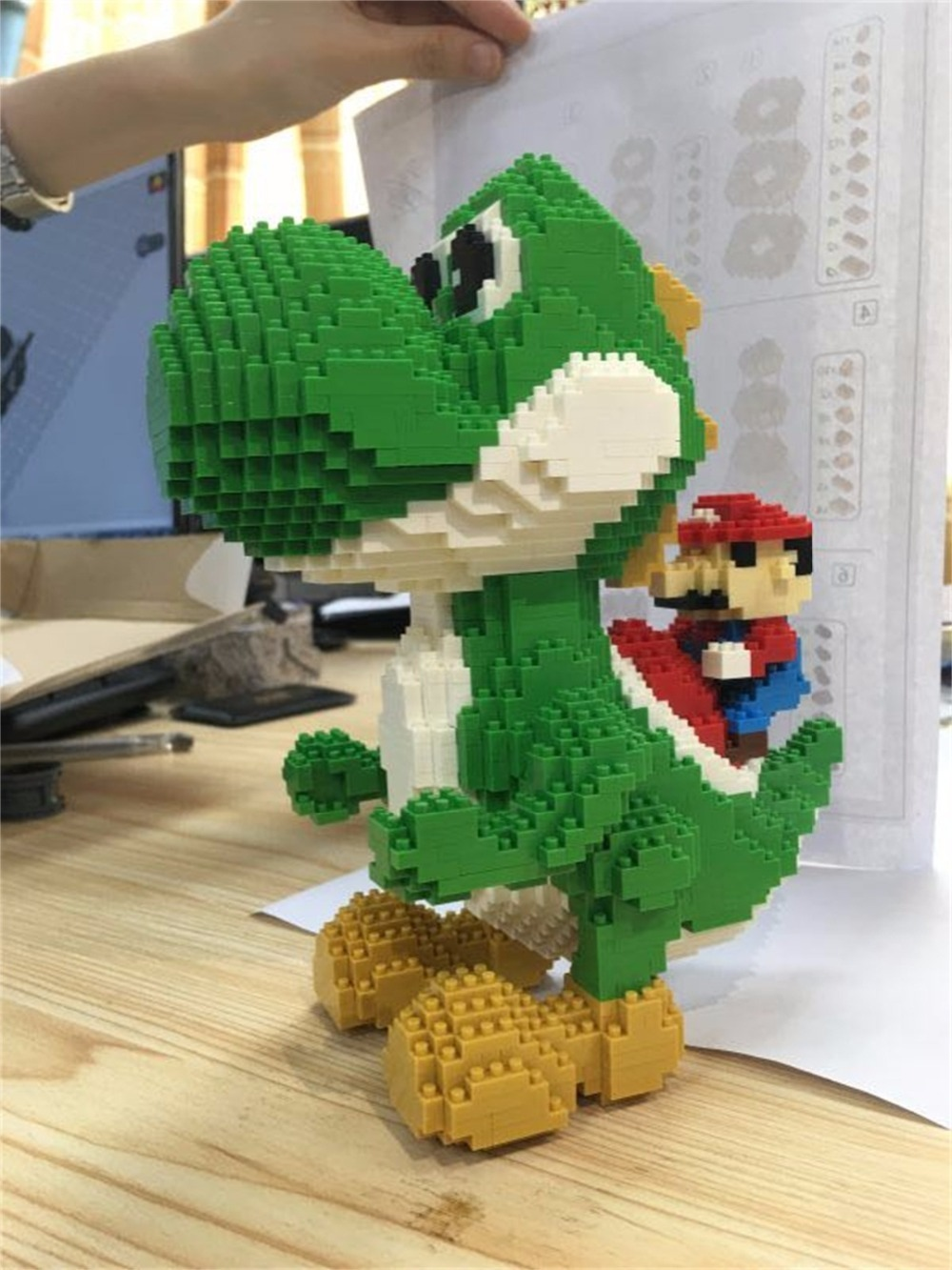 Bloques mágicos HC, Mini bloques de tamaño grande, Micro bloques de Mario, Anime, Juguetes de construcción DIY, Juguetes modelo de subasta, Juguetes para niños, regalos 9020