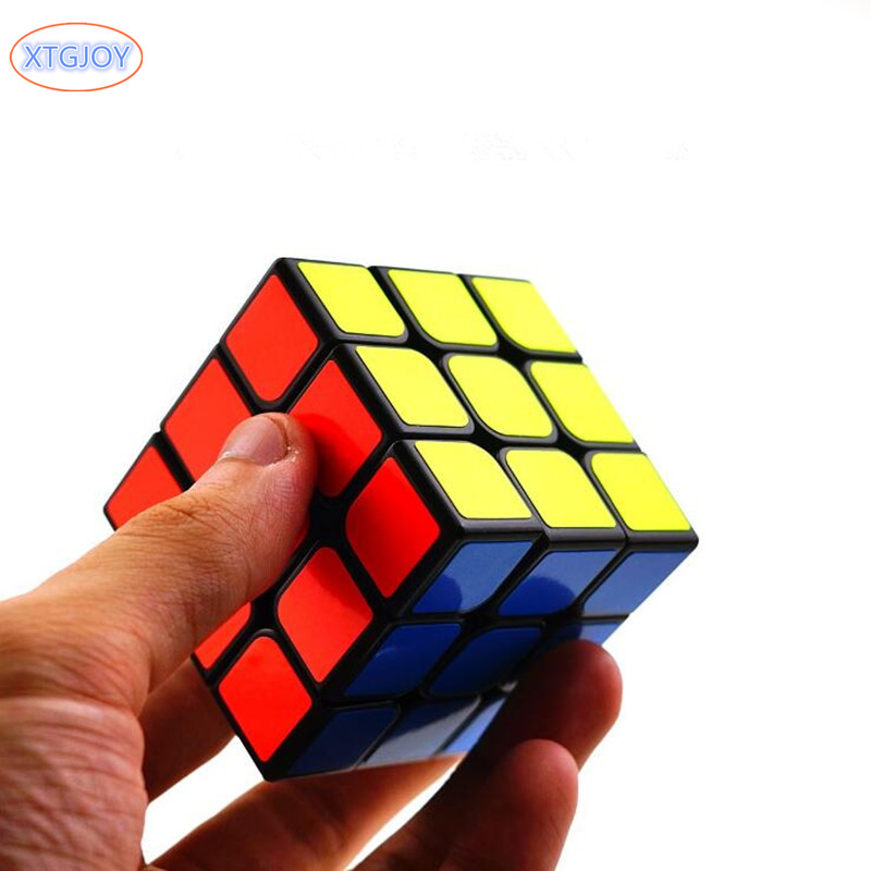 1Pcs 3x3x3 ABS Sticker Block High Quality Speed Magic Cube Colorful Learning Educational Puzzle Cubo Magico