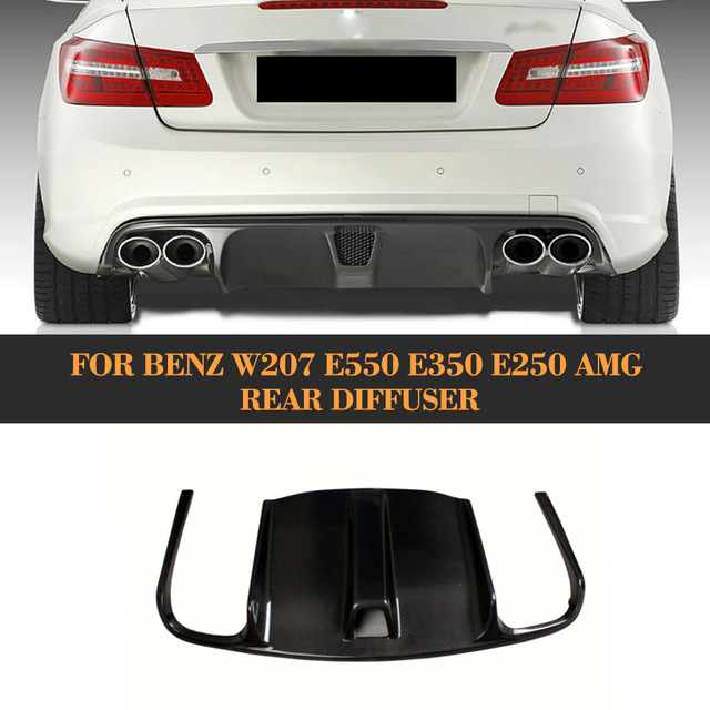 Carbon Fiber Material Rear Per Diffuser For Mercedes Benz W207 Amg Car 2009 Up E550 E350 E250