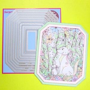 Image 2 - 2 세트 대형 커팅 다이 다각형 직사각형 & 스퀘어 Cardmaking & Scrapbooking DIY Craft stencil