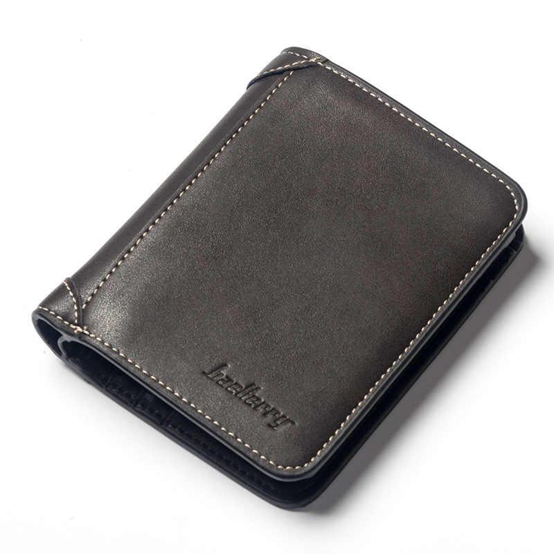 Vitage Zipper hommes portefeuilles en cuir portefeuille argent sac porte-cartes de crédit Dollar Bill portefeuille embrayage sac à main pour garçon utiliser des portefeuilles courts
