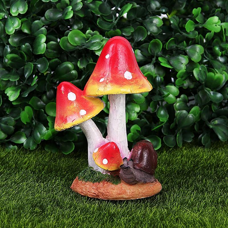 Miniature Succulents Plant Pots Fairy DIY Crafts Micro Landscape Decoration Mini Snail Red Mushroom Garden Creative Ornament