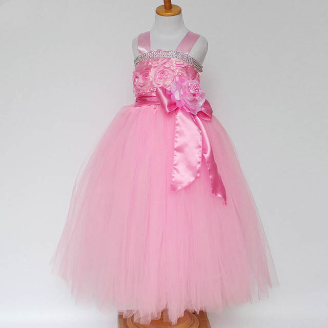Placeholder Children Evening Wedding Gowns Kids 2 3 4 5 6 7 Year Old Birthday Outfit Flower