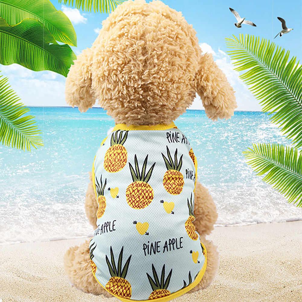 HSU Pet костюм для пар щенок собака принц прекрасный ананас/клубника жилет футболки для маленьких средних собак Милая верхняя одежда