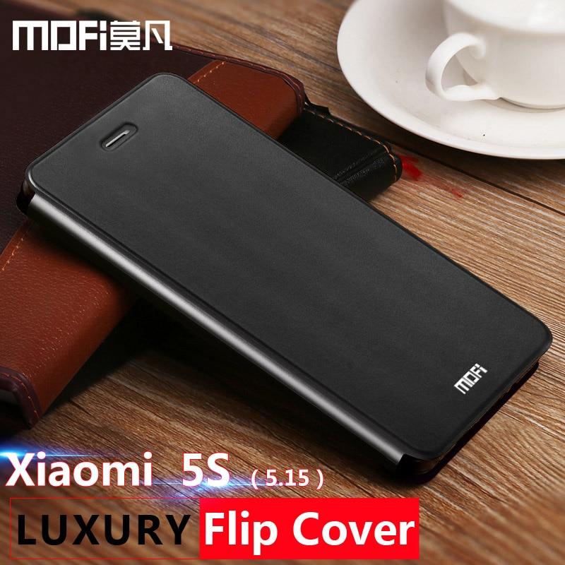 save off 9c458 ac74d xiaomi mi5s mi 5s case leather flip cover mofi original xiomi 5s mi 5 s  capa silicone coque back soft smart wake up funda