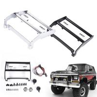 Stainless Steel Front Metal Bumper With LED Light Anti Collision For Remote Control Crawler For Ford Traxxas TRX4 Bronco 82046 4