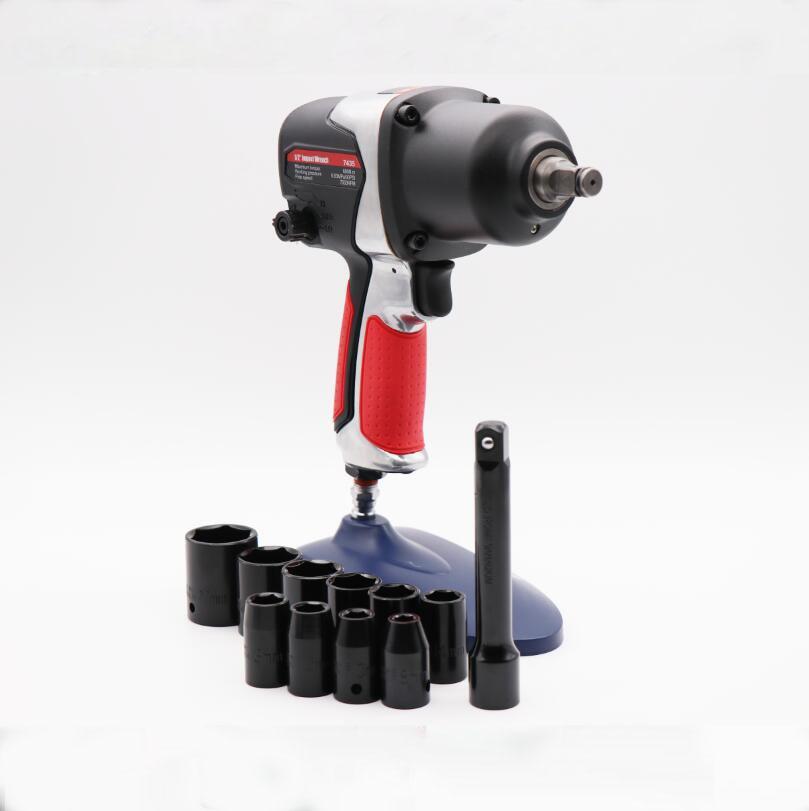 7435空気圧レンチセット、プロフェッショナル自動修理空気圧ツール、スパナ空気ツールインパクトレンチ