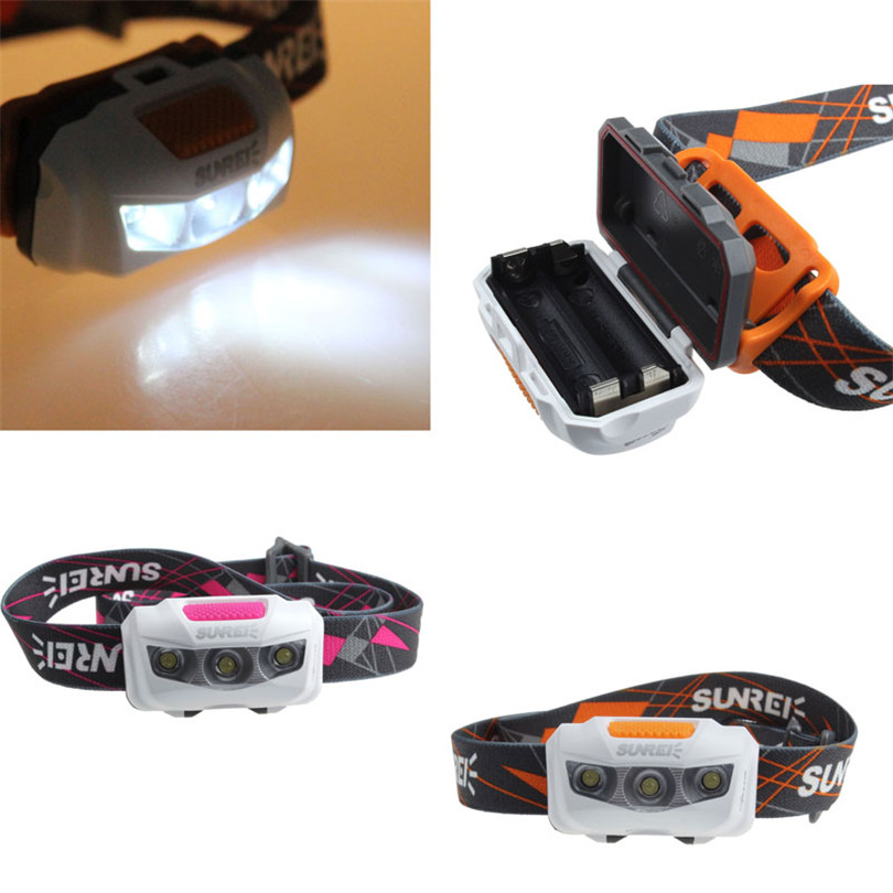 D4 3Mode Waterproof LED Headlamp Headlight Lamp for Bicycle Outdoor Sport Running Light Retail&Wholesale Cycling Accessories high quality 2 mode power 5w led headlight 48000lx outdoor fishing headlamp rechargeable hunting cap light