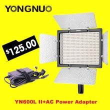 YONGNUO YN600L II 3200 К-5500 К светодиодные видео с Сокол Ojos адаптер переменного тока комплект Поддержка Télécommande по телефон приложение для интервью