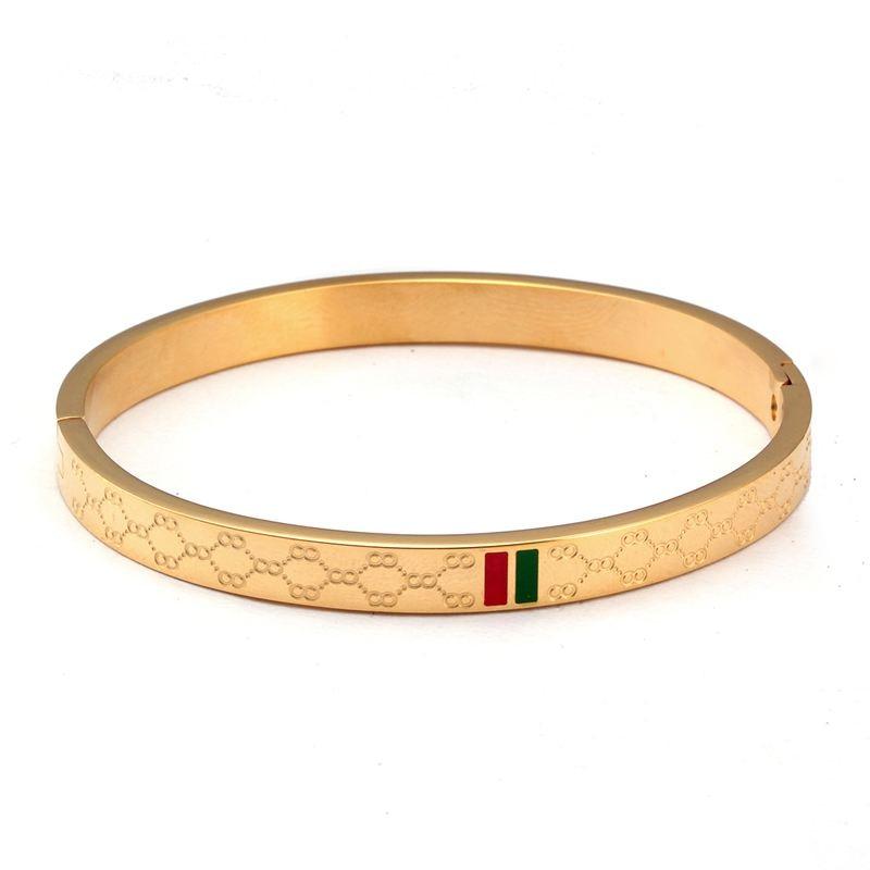 6 - Brassard Breloque, Bracelet Pour Femmes, Acier Inoxydable Plaqué Or 4mm 6mm 8mm,