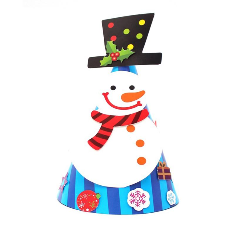 050352520e34e Kid Cheer Paper Christmas Hat Children Santa Claus Reindeer Snowman Cute  Party Cap Christmas party decor Photograph Items-in Christmas Hats from  Home ...