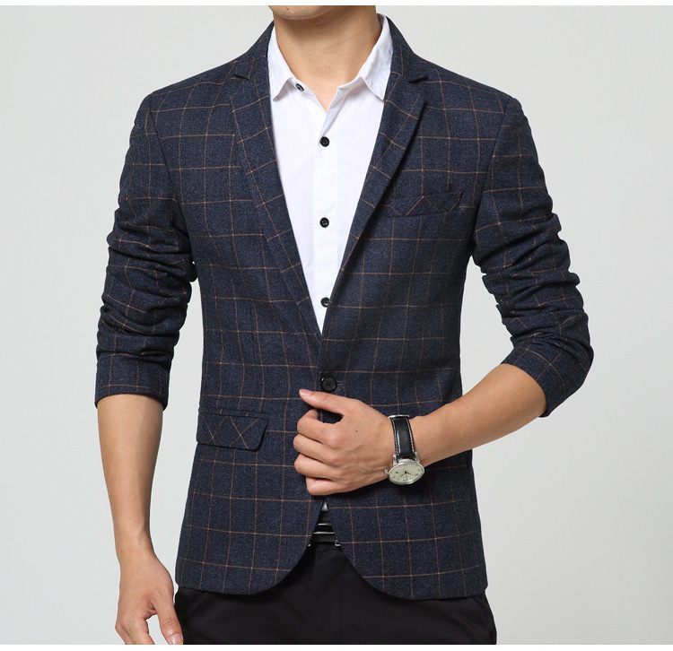 Men Casual Blazer 2017 Spring Mens Suits Blazer Single Button Men ...