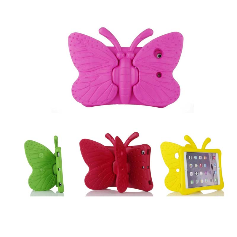 Tablet EVA Soft Shockproof Case for iPad Mini 1 2 3 Cartoon 3D Butterfly Stand Table