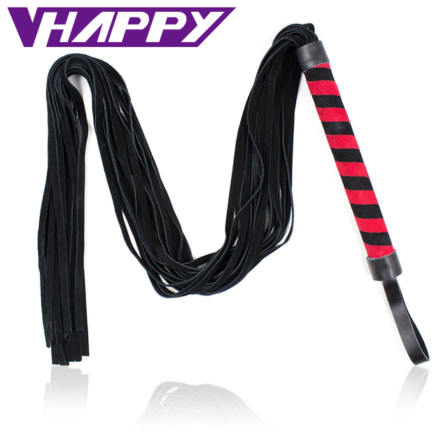 5 pcs/lot 125cm Genuine Leather Spanking Paddle Flogger Whip Red Flirting Fun Sexy Leather Whip Sex Toys For adults VP-WP001035B