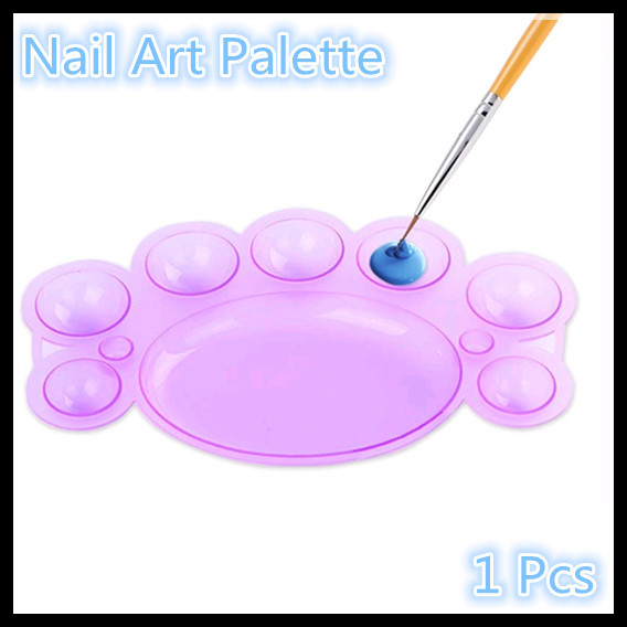 1Pcs Dappen Dish Nail Art Palette Tool For Acrylic Liquid Color Mixing + Free Shipping (NR-WS55)