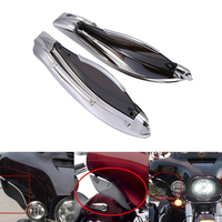 Neverland Plastic Motorcycle Side Wings Motor Adjustable Fairing Air Deflectors For Harley Batwing 2014 2016 D35