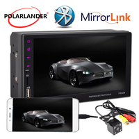 7 Touch Screen MP5 Player 2 Din Share Screen Mirror Link Bluetooth Stereo Remote Control Android Hand Free USB/FM/Aux Radio