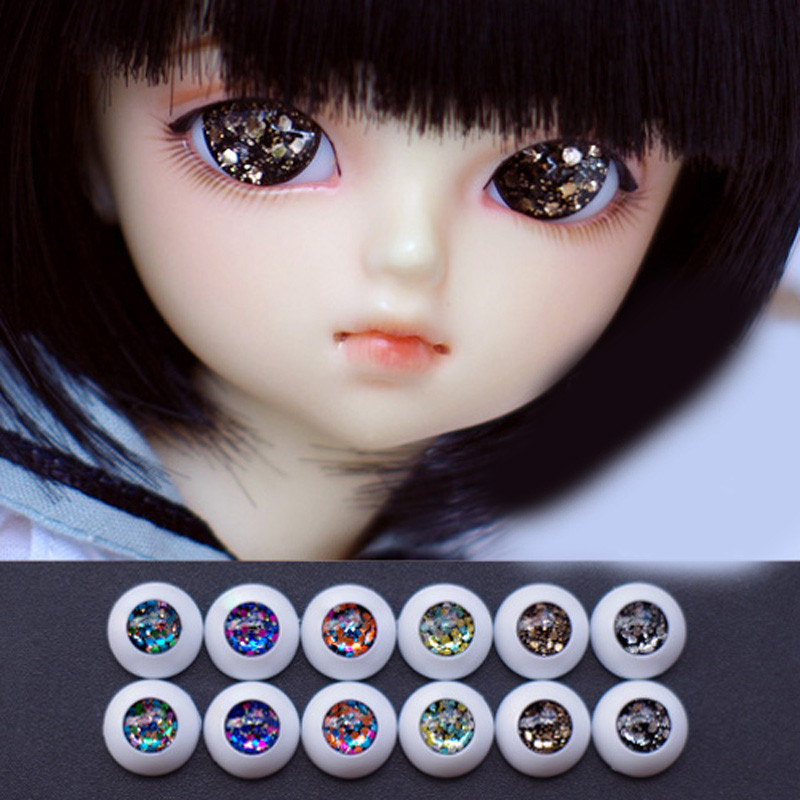 Colorful  bjd doll eyes for 1/3 1/4 1/6 BJD Dolls toys sd red black golden eyeball 8mm 16mm 18mm 20mm Acrylic EYEs for dolls jm1288 fashionable chiffon sleeveless women s dress green size l