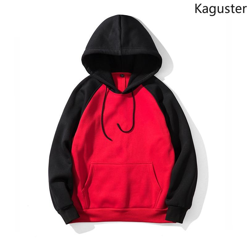 Kaguster men women harajuku Hooded Patchwork streetwear hoodies sweatshirt Punk Style Hip Hop long sleeve Pullover kpop clothes in Hoodies amp Sweatshirts from Women 39 s Clothing
