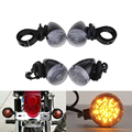 4Pcs/lot 12V Universal Chrome/Smoke Motorcycle Front & Rear Indicator Light Turn Signal Light for Metric Bikes Lamp Amber Color
