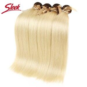 Image 2 - Sleek Bunte Haar Nerz Brasilianische Haarwebart Bundles10 To26 Zoll Honig Blonde 613 # Farbe Gerade Bunles Remy Haar Verlängerung