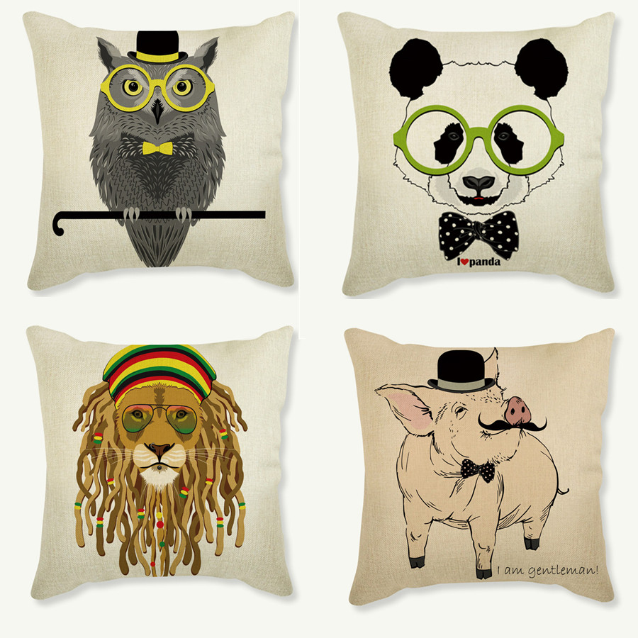 Animal cushion owl panda for children Decorative Cushion for Sofa Throw Pillow Car Chair Home Decor Pillowcase almofadas
