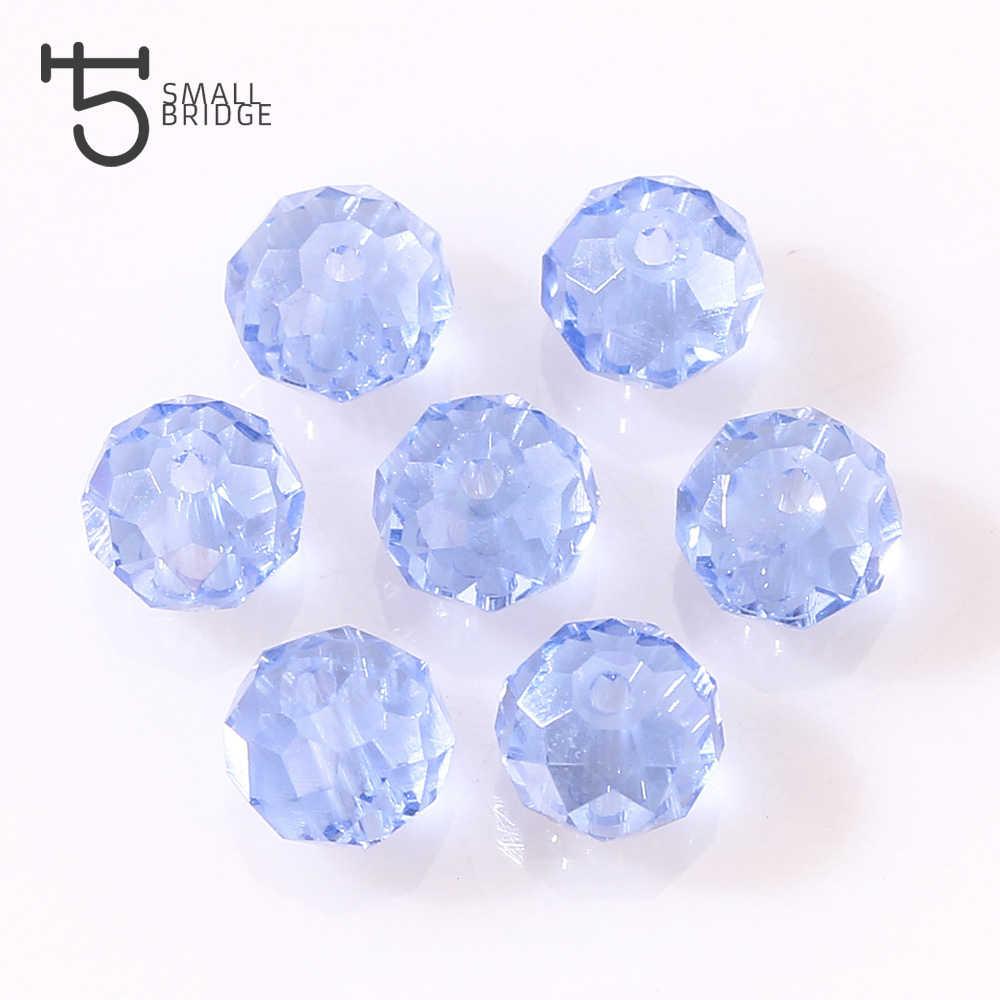 4 6 8 Mm Bahasa Swedia Longgar Rondelle Kristal Beads untuk Membuat Perhiasan DIY Menjahit AB Warna Spacer Ragam Manik-manik Kaca grosir Z179