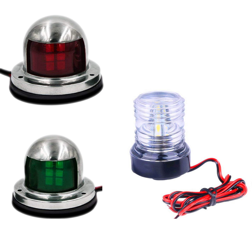 Red /& Green LED Lighting Bass Boat Bow Navigation Lights Marine for Triton Nitro