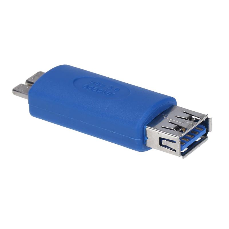 ALLOYSEED USB3.0 Male to Micro USB B/AF Adapter Converter with OTG Function Connect to PC and Mobile Devices with OTF Function