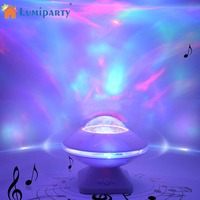 LumiParty LED Projection Speaker Lamp RGB UFO Crystal Ball Auto Rotating Xmas Starry Light Disco Party