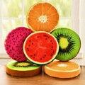 Fabric seat cushion for Long Bench Stool and Ottoman with Watermelon/ Kiwi Fruit /Pitaya / Strawberry Pattern Round Sharp