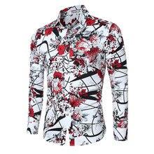 Couldstyle 2017 Marke Neue Männer Shirts Freizeit Flora Langarm Geschäfts Formalen Shirt Qualität Slim Fit Männer Importierte-kleidung