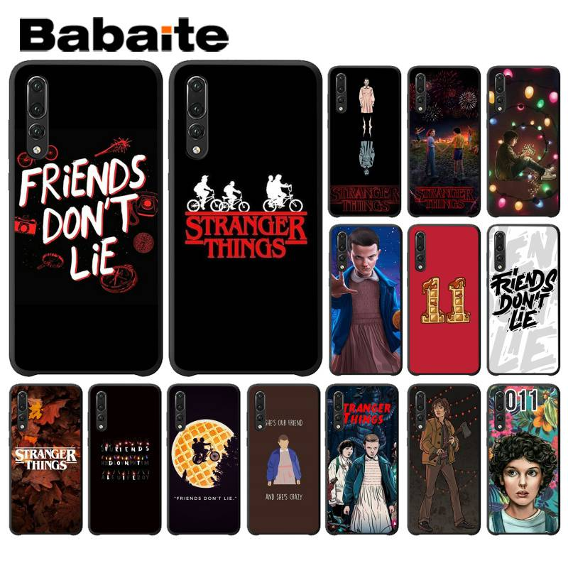 Babaite American Tv <font><b>Stranger</b></font> <font><b>Things</b></font> TPU black <font><b>Phone</b></font> <font><b>Case</b></font> for <font><b>Huawei</b></font> P9 P10 Plus Mate9 10 Mate10 <font><b>Lite</b></font> <font><b>P20</b></font> Pro Honor10 View10 image