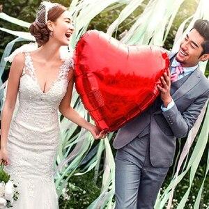 Image 4 - 結婚式の装飾風船大36インチ75センチハート箔風船バレンタインの日誕生日パーティーアニバーサリーデコレーション用品