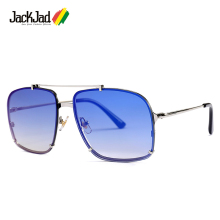JackJad 2019 Fashion Modern Men Square Aviation Style Sunglasses