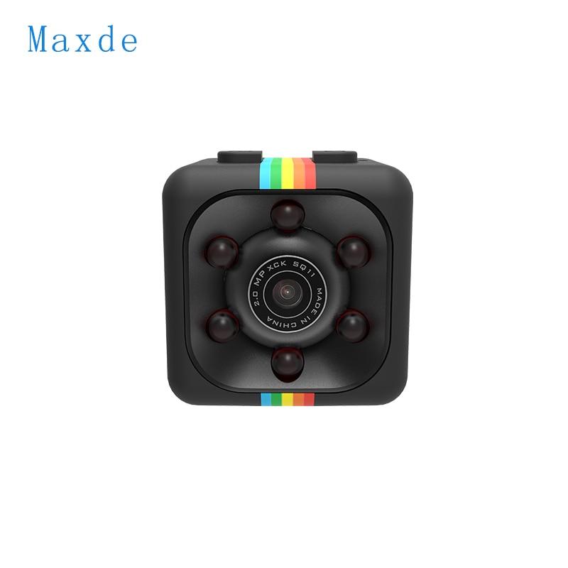 Maxde Mini Camera SQ11 2.0MP 1080P HD Camcorder Night Vision Micro Camera Sports Mini DV Voice Video Recorder for Car Driving