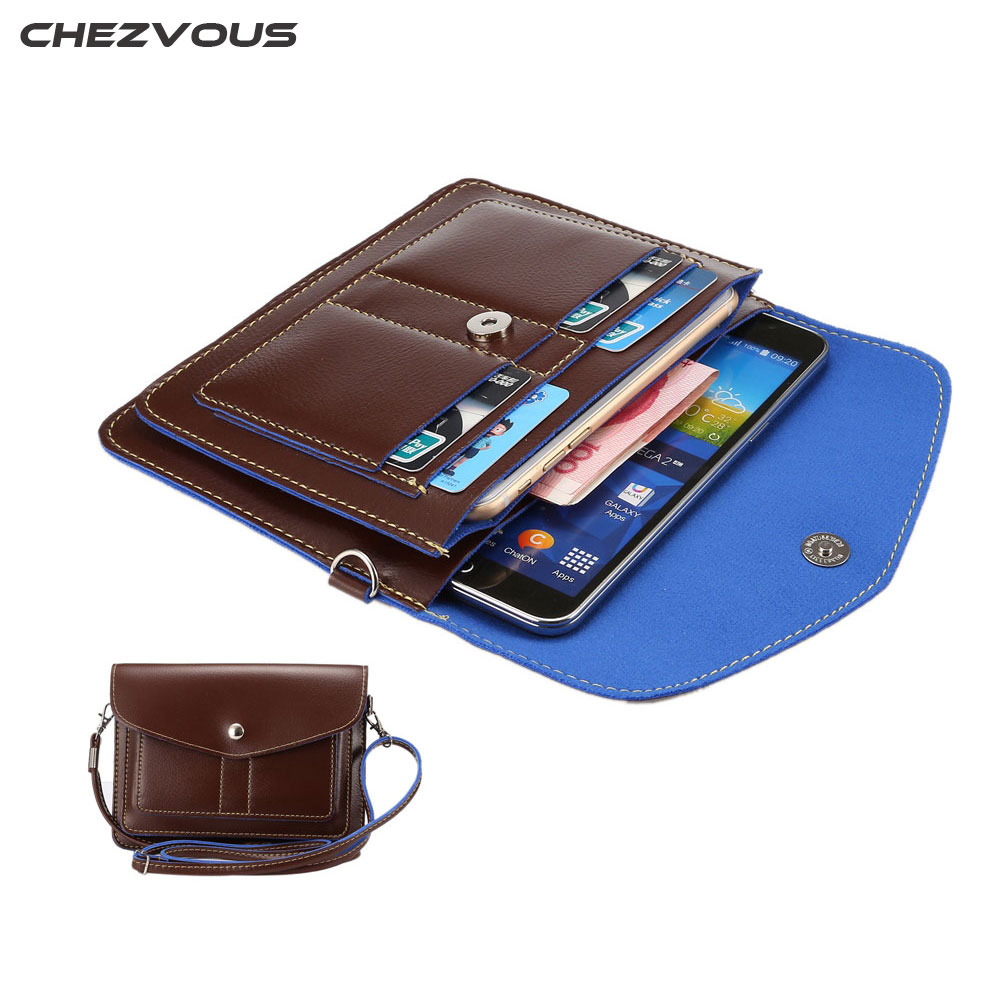 Universal Leather Bag Small Shoulder Crossbody Pouch for iPhone/Samsung/Sony/Homtom/Lumia Molle Phone Case Bag Below 6.3'' XCZ01