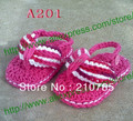 Crochet Baby Sandals, Baby girl Rose Red Flip Flops, Crochet Baby bootee-- Made to Order,500pair/lot Free Shipping