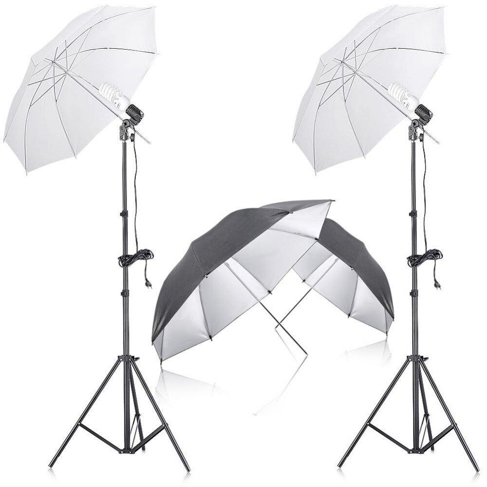 Neewer Photo Studio éclairage continu parapluie Kit avec réflecteur parapluie pour Portrait photographie Studio magnétoscope