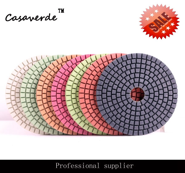 DC-BC02 New Material 4 Inch 100mm Diamond Concrete Polishing Pads For Polishing Concrete Floor