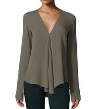 blusas mujer de moda 2019 spring long sleeve v-neck mulher elegantes chiffon blouse shirts plus size women 4xl 5xl 6xl