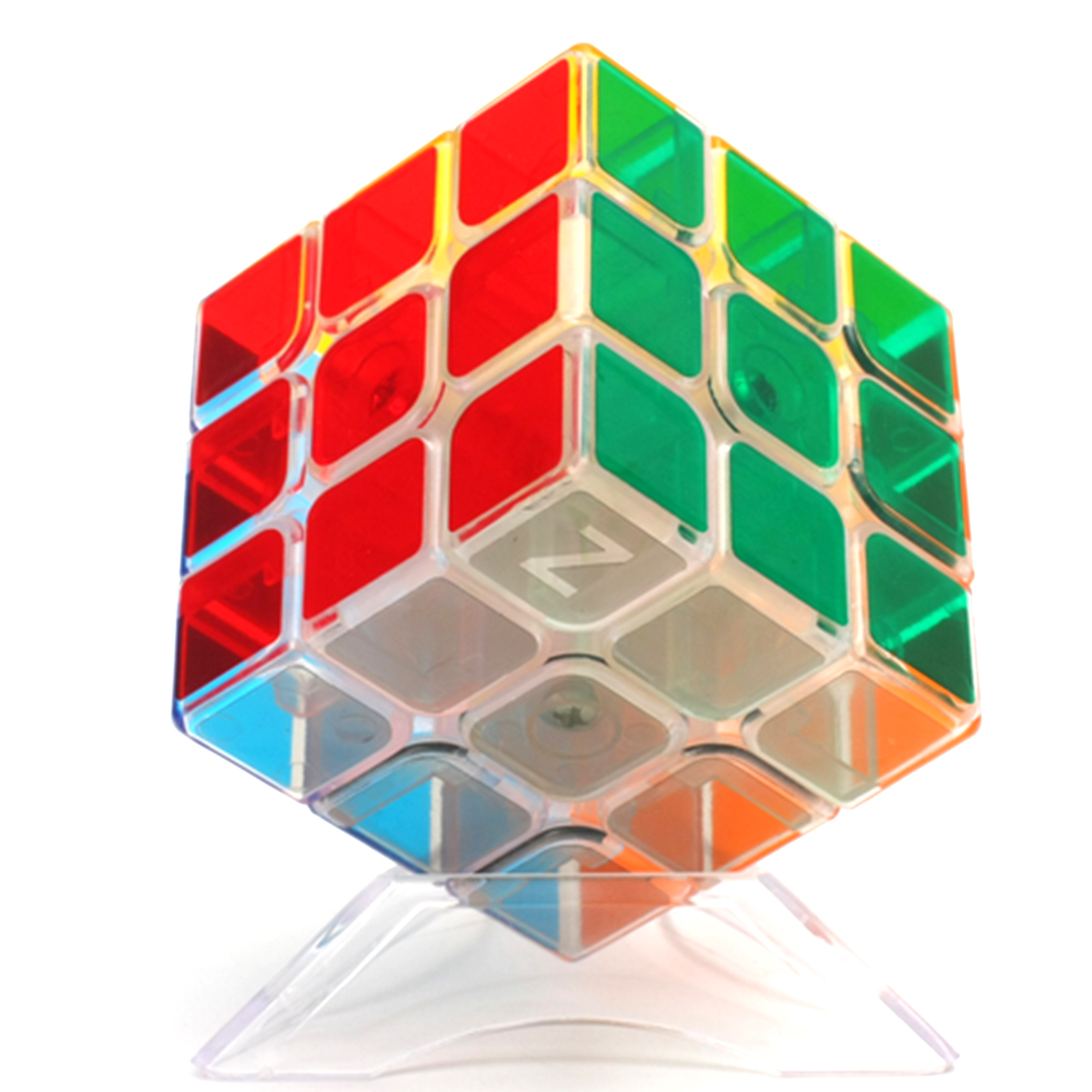 ZCUBE Transparent 3x3x3 Magic Cube Brain Teaser Speed Cube Puzzle Toy invisibobble original princess of the hearts резинка браслет для волос original princess of the hearts резинка браслет для волос